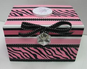 Wedding Recipe Box with Monogram Plaque