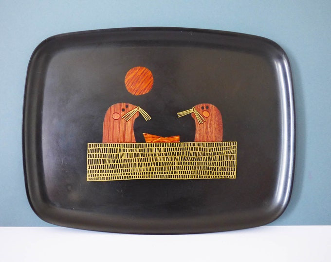 Vintage drinks Couroc Tray