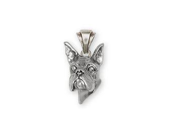 Boxer Pendant Jewelry Sterling Silver Handmade Dog Pendant DG8H-P