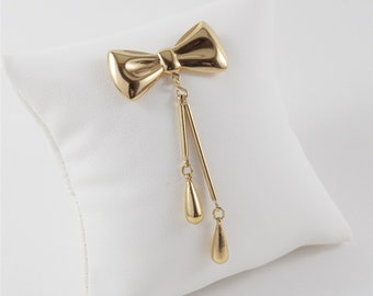 SALE! Vintage Dangle Bow Pin | Bow Brooch | Bow Tie Tack