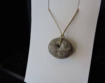 Drilled large spotted stone