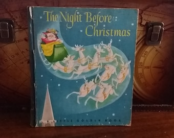 1946 Little Golden Book The Night Before Christmas, free shipping in USA with the original binding before the gold.