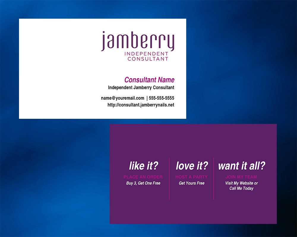 Jamberry nails business card horizontal with optional back zoom reheart Choice Image