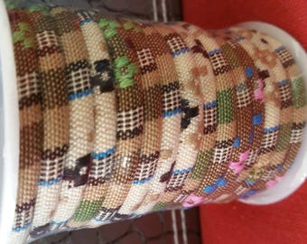 1 m cord ethnic 6mm colors beige Brown
