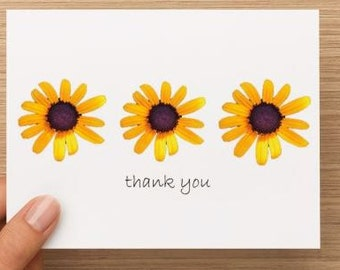 Thank you cards: Maryland Black Eyed Susan Flower, personally photographed, package of 10 or 20
