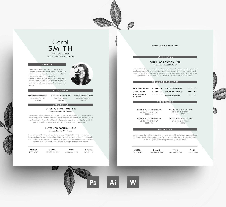 Plantilla de currículum vitae editable fácil / carta Editable