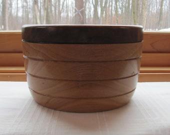 Oak and Black Walnut wooden bowl