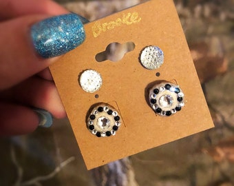 Antler Earrings w/ Second Hole earrings
