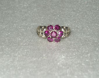 Sterling Silver Rubellite Tourmaline Ring- size 9