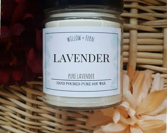Lavender Scented, Lavender Candle, Lavender Soy Candle, Wedding Gift, Spa Gift, Gift for Mother, Mothers Day Gift, Lavender Scent