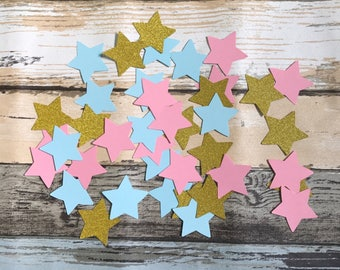 150pcs twinkle little star confetti gender reveal decoration star party blue pink gold glittery star confetti table centrepiece decor 4.5cm