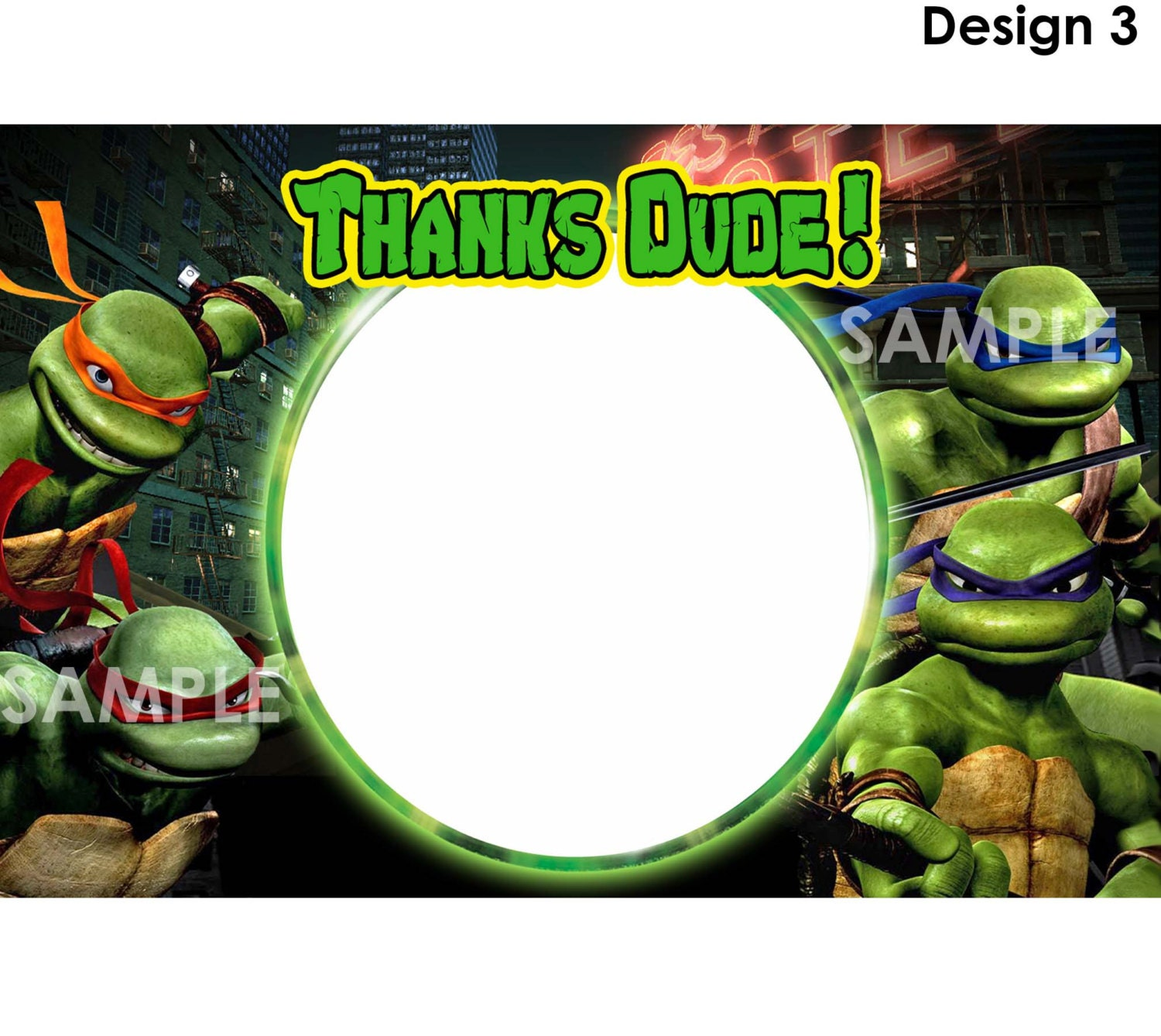 Teenage mutant ninja turtles thank you note card instant zoom stopboris Image collections
