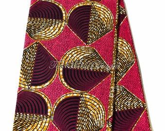 Ankara print fabric/ 6 yards/ Ankara fabric wholesale/ Supreme Wax Holland/ African Fabric/ African fabric/ clam fuchsia WP1156
