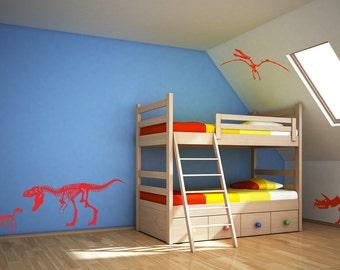 Dinosaur wall decal - set of 4