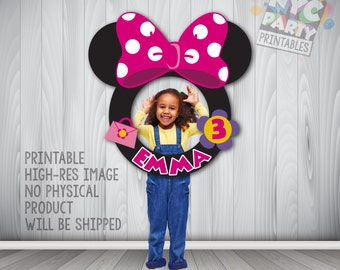 Minnie Mouse Photo Booth Frame, Minnie Mouse Party, Mickey Mouse Photo Booth-Printable Minnie Mouse Photo Booth Frame, Minnie Mouse Frame