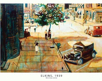 Elkins, 1939 Print Oil Painting by Michael Doig