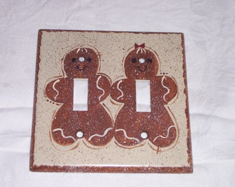 Gingerbread double light switch cover FREE SHIPPING