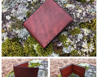 Leather bifold / billfold wallet
