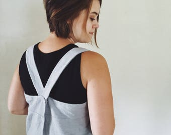 Pinafore Apron   Japanese Apron   Pre-Washed Full Apron   Utility Apron   Linen Square Apron   Gardening smock   Gifts for Her