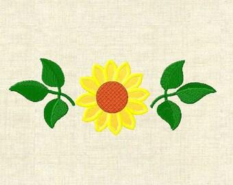 Machine embroidery design flowers,  applique flower, Sunflower 1-3