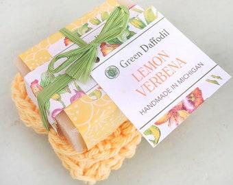 Lemon Verbena Soap and Washcloth Kit