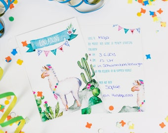 Invitation card for Children-6 sets _Lama