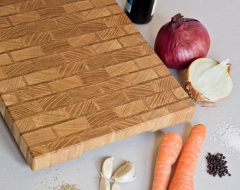 Brick Pattern Chopping Board - End Grain Cutting Board - Cutting Board - Chopping Block - Food Prep - Cooking Gift - Handmade Cutting Board