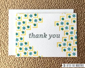 Thank You — LetterpressGreeting Card