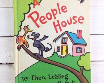 1972 In A People House by Theo. LeSieg Book Club Edition / Vintage Children