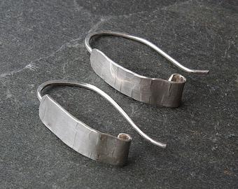 Sterling Silver Threader Earrings - Modern Threader Handmade Dangle Earrings