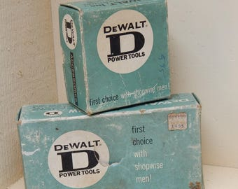 Vintage Dewalt Tools Saber Saw Attachment Part No. 201327 & Medium Grit Cup Wheel, Vintage Tools Workshop Garage Display Black and Decker