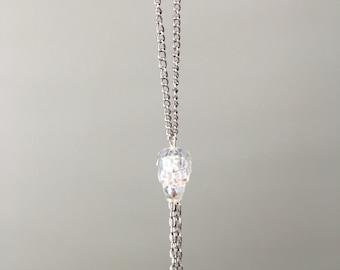 Iridescent Swarovski Skull Tassel Necklace