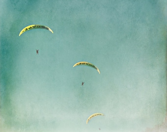 fine art photography print by Keri Bevan - The Escape - blue,aqua,yellow
