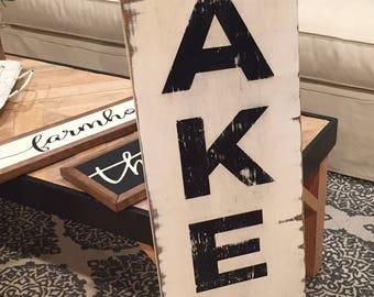 """HUGE """"Bakery"""" Sign Vintage Farmhouse Wood Sign"""