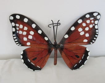 Vintage laquered paper butterfly