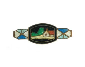 SALE--Cloissone Farm Scene Pin