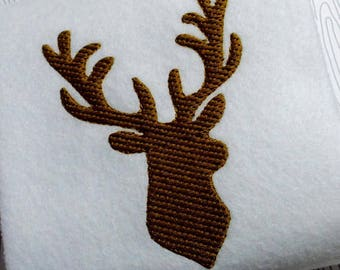 Embroidery deer head machine embroidery instant download, deer hunting head, deer design,