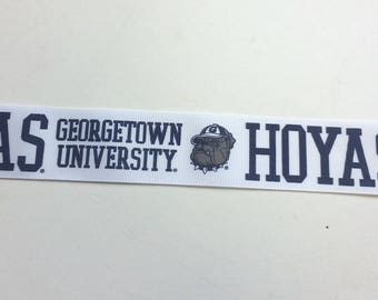 """Georgetown University Hoyas Grosgrain Ribbon 10 Yds 1 1/2"""" Wide"""