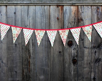 SAMPLE SALE Jolly Candy Holiday Fabric Banner (free shipping!)