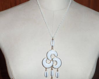 Vintage Gold and White Necklace