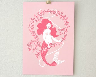 Mermaid Seaweed // print pink