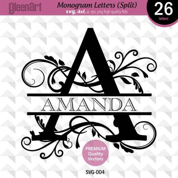 Download Split Monogram font, Monogram svg, Cuttable Split letters ...