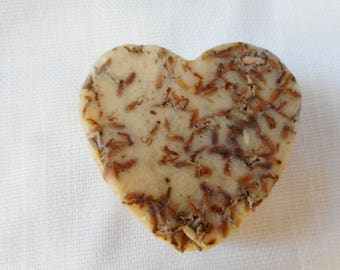 Every day use, Heart Shapes, Lavender Goat milk , Home made hand milled soap no dyes or perfumes.