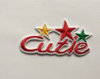 Cutie with stars Iron on patch