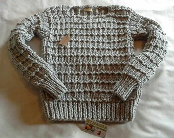 Knitting Sweater   light Gray . Knitting  Pullover , Sweater