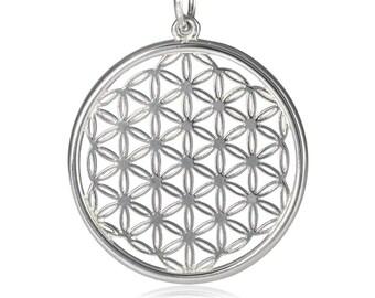 Flower of Life pendant silver, sacred geometry