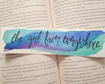Girl From Everywhere Watercolor Bookmark