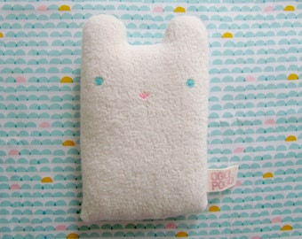 Microwavable Bruno the Bear - Organic heating pad filled with organic rice and lavender - organic heating pack microwavable - heating pad