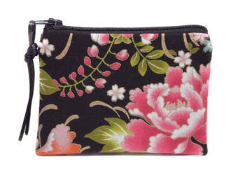 small floral Japanese fabric purse