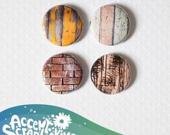 "Badge 1 ""- textured wood"